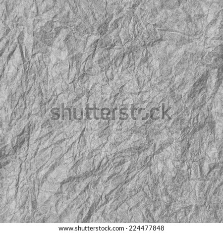 gray wrinkled paper - stock photo