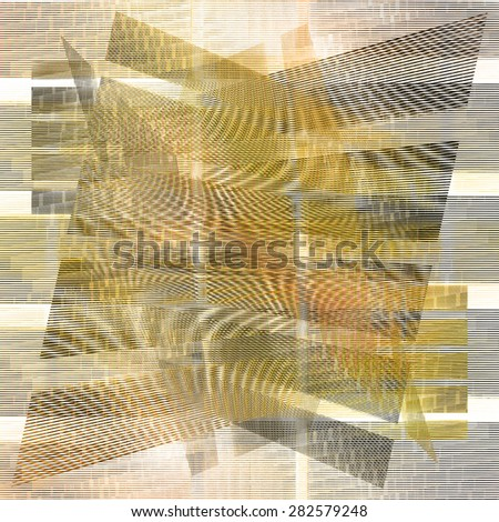 Gray yellow lines design background - stock photo
