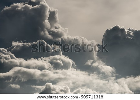 Grayscale clouds, background