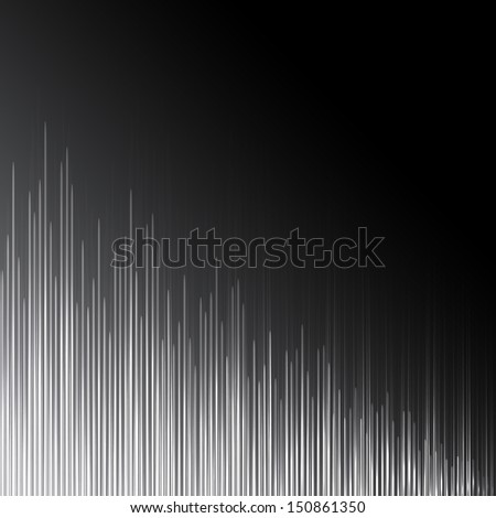 Grayscale equalizer  - stock photo