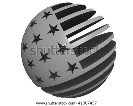 Grayscale flag usa