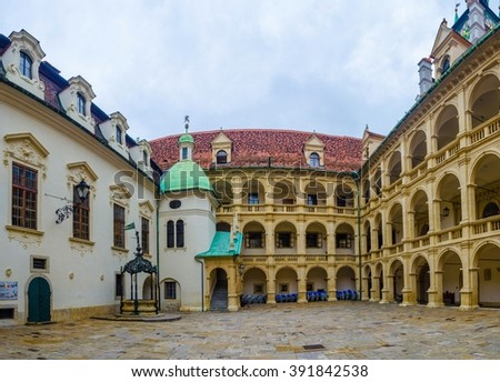 GRAZ, AUSTRIA, JULY 30, 2015: Former imperial residence and castle in Graz, Austria. Graz is the capital of federal state of Styria and the second largest city in Austria