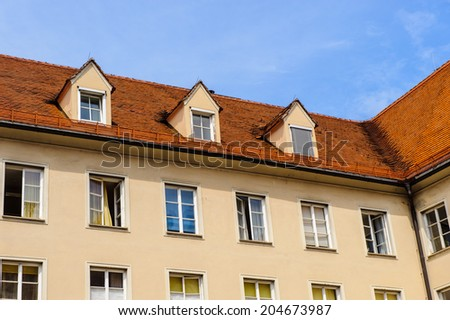 GRAZ, AUSTRIA - JUN 27, 2014: Former imperial residence and castle in Graz, Austria. Graz is the capital of federal state of Styria and the second largest city in Austria