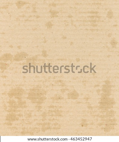 Grease stains corrugated cardboard