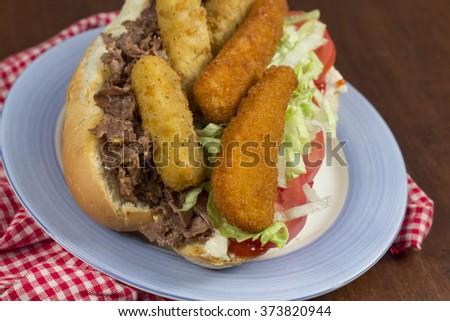 Grease trucks New Brunswick fat sandwich cheesesteak - stock photo