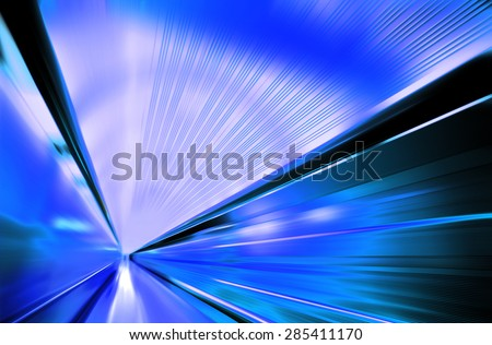 Greased light on modern high-speed highway of night city - stock photo