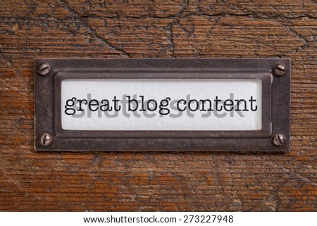 great blog content  - file cabinet label, bronze holder against grunge and scratched wood