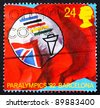 GREAT BRITAIN - CIRCA 1992: a stamp printed in the Great Britain shows Flag of British Paralympic Association, circa 1992 - stock photo