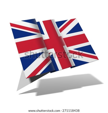 Great Britain flag 3D banner