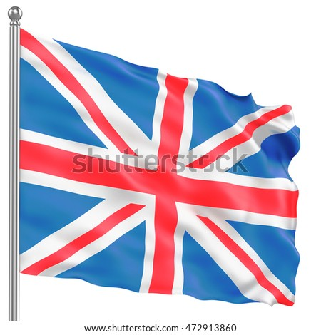 Great Britain Flag, 3D illustration