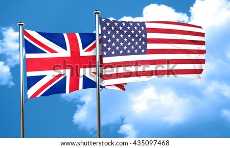 Great britain flag, 3D rendering