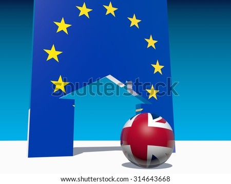 great britain separate from european union - stock photo
