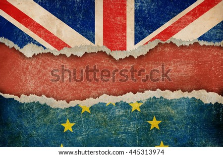 Great Britain withdrawal from European union brexit concept