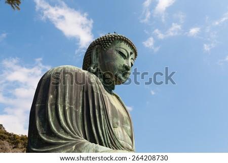 Great buddha (Daibutsu) , Kamakura, japan - stock photo