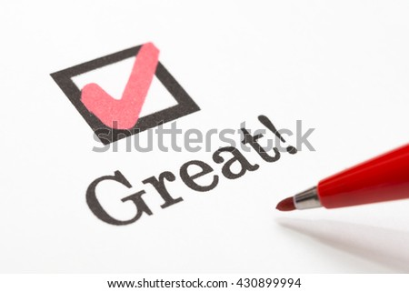 Great check boxes - stock photo