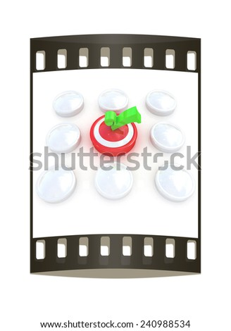 Great choice concept. On a white background. The film strip - stock photo