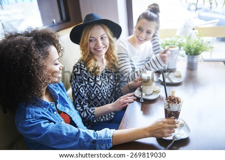 Great coffee is only in this place - stock photo