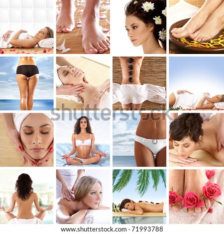 Great collage about health, beauty, sport, meditation and spa