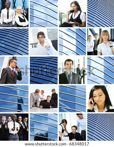 Great collage madeof many business pictures - stock photo
