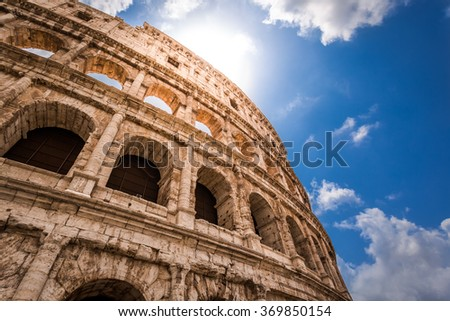 Great Colosseum in Rome - stock photo