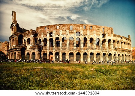 Great Colosseum in Rome, Italy - stock photo