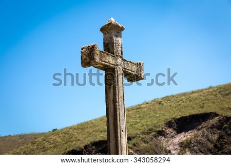 Great cross religion - stock photo