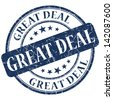 great deal stamp - stock vector