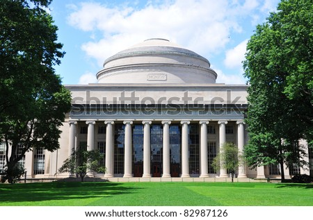 Great Dome of Massachussets Institute of Technology (MIT), Cambridge, Massachusetts, USA - stock photo