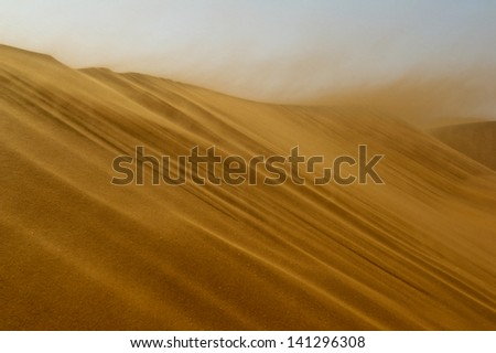 Great Dunes, Namibia, Sousslevei, on the way to Dead Valley, strong wind,
