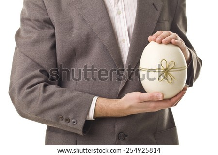 Great Easter Gift. Success. - stock photo