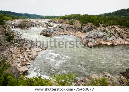 Great Falls National Park in Virginia and Maryland - stock photo