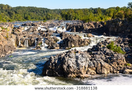 Great Falls Park - stock photo