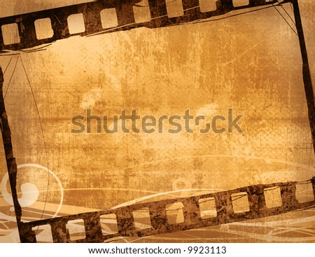 Great film frame for textures and backgrounds-with space for your text and image