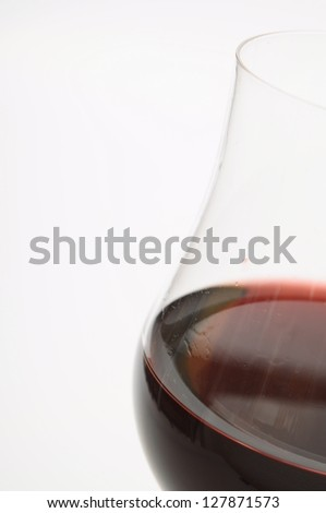 Great Glass of red wine on light background