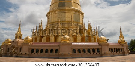 Great golden stupa in northern region of Thailand
