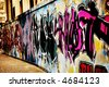 Great Graffiti tag, colorful and vibrant - stock photo