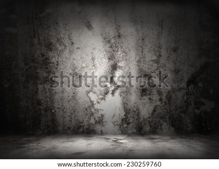 Great grungy illustrate of Chef on the wall- great for use as your background - stock photo