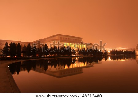 Great Hall of the people in the night, china. - stock photo