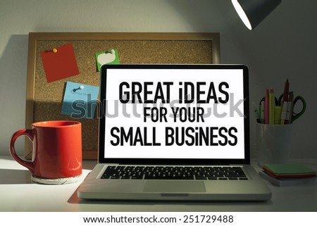Great Ideas For Your Small Business - stock photo