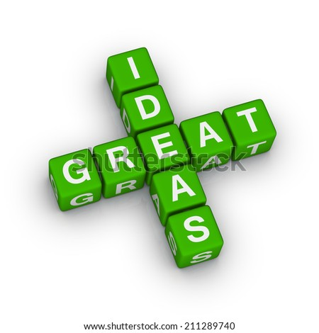 great ideas icon (green-white crossword series)