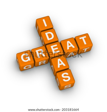 great ideas icon (orange-white crossword series)
