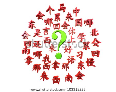 Great illustration for learning mandarin advertisement, isolated on a white background