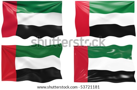 Great Image of the Flag of United arab Emirates