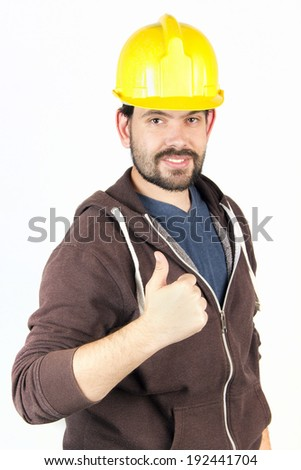 Great job building male - stock photo