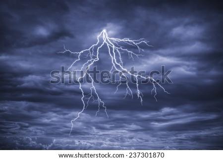 Great Lightning - stock photo