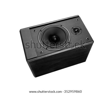 Great loud speaker isolated on white. - stock photo