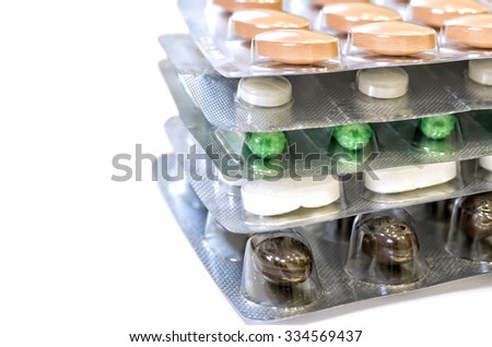 Great medication photo in white background