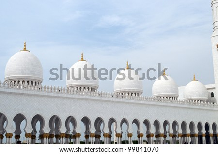 Great mosque in Abu Dhabi