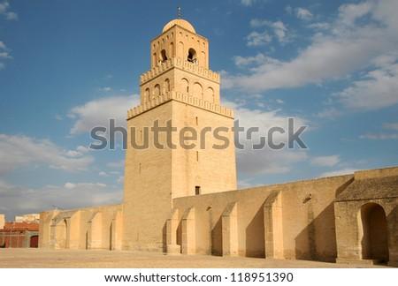 Great Mosque of Kairouan - stock photo
