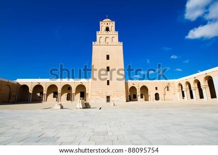 Great Mosque of Kairouan (Mosque of Uqba), Tunisia - stock photo
